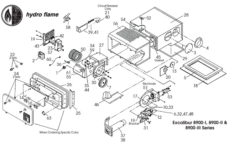 Furnaces, 8900-I Series | Hydro Flame Furnace Wiring |  | NTP