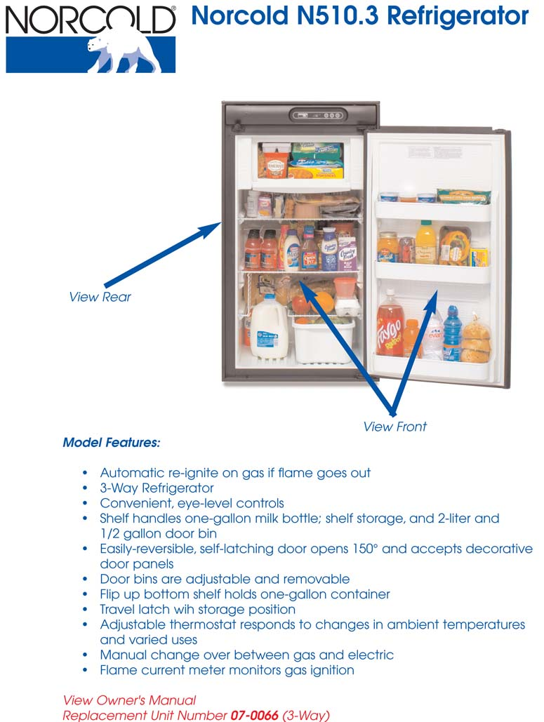 Refrigerator, N512.3, Overview on