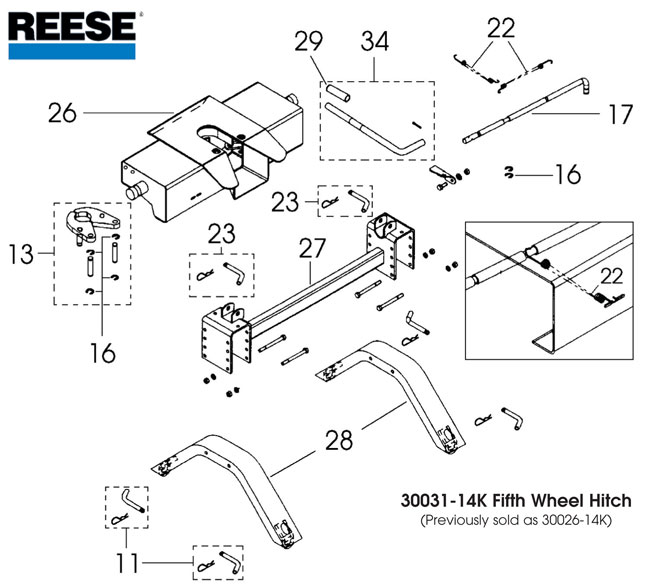 33 Reese 5th Wheel Hitch Parts Diagram